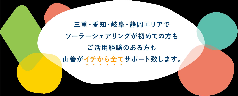 三重・愛知・岐阜・静岡エリアでソーラーシェアリングが初めての方もご活用経験のある方も山善がイチから全てサポート致します。